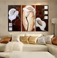 alta qualidade de pintura a óleo decorativa de imagem da flor