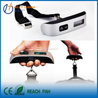 Digital Luggage Scale 110 lb Precision, Bright LCD Backlig with Strap/Hook, Temperature/Time Display and Alarm Clock Function