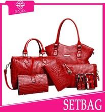 2015 New 6 PCS SET lady handbag totes bag buy 1 get 5 free pocket,envelope bag,key holder