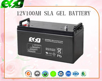 Reliable and Professional Made 12V100AH Sealed Maintenance Free Batteries deep cycle battery