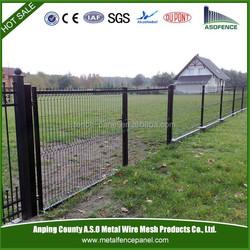Protable decorative steel pvc garden fence