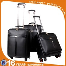 2015 Fashion hot sale professional leather suitecase high quality diplomat trolley case