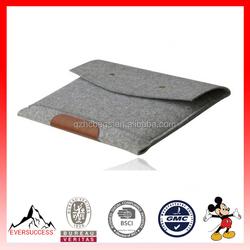 Envelope Style Wool Felt Laptop Case Sleeve Bag for Tablet (ESX-LB082)