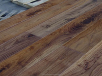 Hand scraped Asian walnut engineered wood flooring