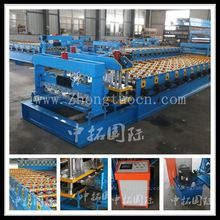 aluminum metal steel glazed tiles cold forming line, new type glazed forming machine