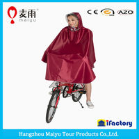 hot sell pvc hooded bicycle cool rain poncho for adults