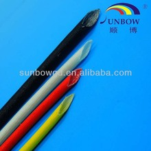 Flexible Acrylic Coated Fiber Glass Sleeving / Sleeves for Insulation Wear Resistance