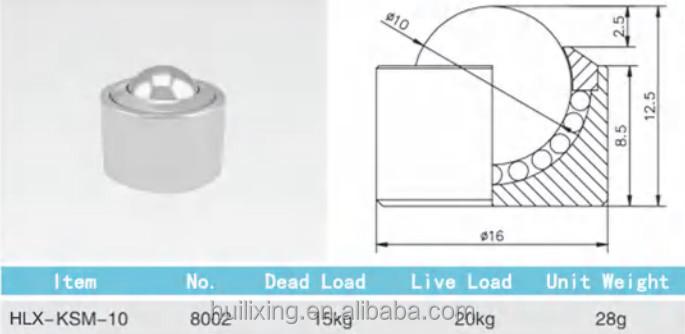 Haute Capacit De Manutention De Fret A Rien Ball Transfer Unit Pour Table Billes Pi Ces De