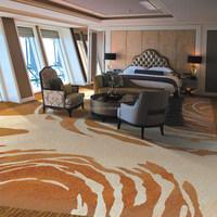 Axminster Carpet Yarn, Wool Carpet Yarn For Restaurent X-1