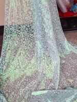 frozen elsa snowflake organza fabric from hangzhou kuangs Textile