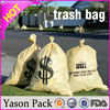 Yason cello plastic bag ldpe/hdpe plastic bags yellow garbage bags