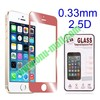 0.33mm 2.5 Degree Arc Incision Electroplated Explosion-proof temper glass screen protector for iphone 5