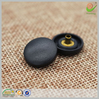 Nickel-free and eco-friendly plastic black nylon snap button for boys