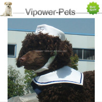 Hot wholesale Adjustable Navy style Pet caps Cat hats with Tie Free shipping