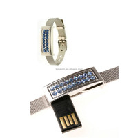 Alibaba wholesale Jewelry wristband USB memory stick Diamond bracelet Pen drive