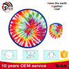 colourful polyester nylon material foldable flying sport frisbee for dog