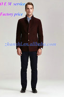 Wholesale Newest Winter claret-red Fashionable mens model wool jacket