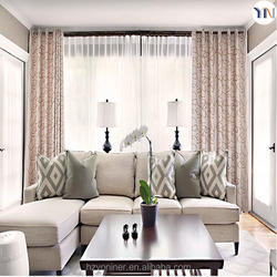 100% polyester jacquard curtain for new house decoration, jacquard fabric for living room curtain, Dubai and Turkey curtain