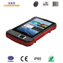 7''fabricante del escáner de código de barras, lector de huella digital, tablet impermeable de lector rfid
