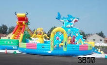 very popular inflatable bouncy castle with water slide good price