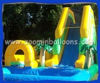 2015 Inflatable slide with water pool ZOOMIN Z3002