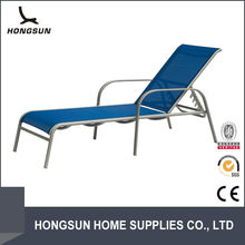 Blue deck armrest chaise pool round lounge chair