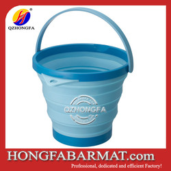 with lid collapsible silicone bucket