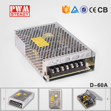 60W D-60A Dual Output Switching High efficiency, long life, high reliability Power Supply