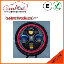 Qeedon original design led headlamp 7 inch round sliver
