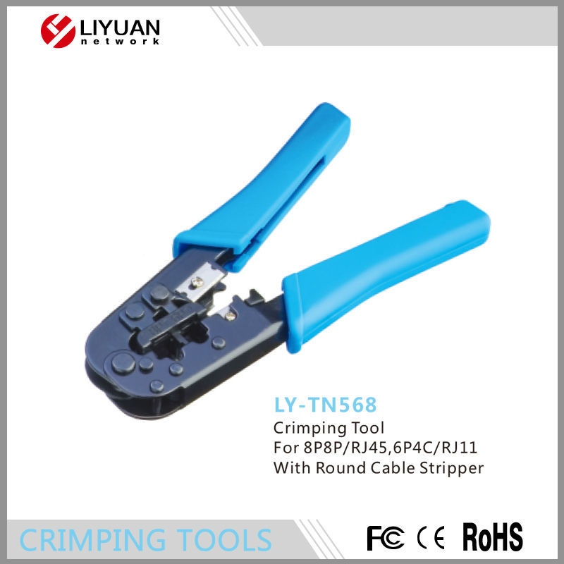 Ly-tn568 Network Crimp Crimper Plier Tools With Round Cable Stripper ...