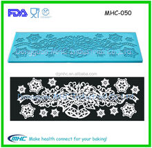 Fondant cake decorating magic decor silicone sugar lace mat, cake lace mat , silicone mat