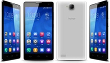 "In Stock Original 5.0"" HUAWEI Honor 3C MTK6582 Cortex A7 quad core 1.3 GHz Dual SIM Card Dual Phone"