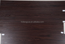 Dark Brown Used Indoor Bedroom PVC Floor Plank