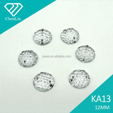 KA13 round star dust 12mm flat back sew on acrylic rhinestones for fashion decoration, craft making, garment bags accessories