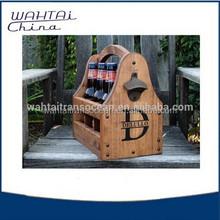 Wooden Baking Beer Carrier with bottle opener