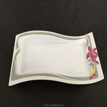 2015 new products dubai wholesale market printing melamine plates P011