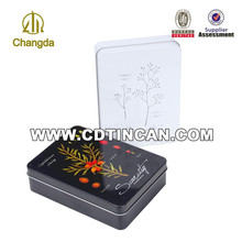Promotional rectangular namecard tin storage box
