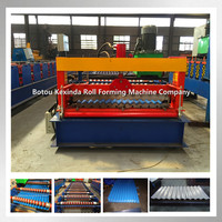 KXD988 Metal corrugated galvanised steel roof tiles making machine in China