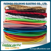 2 core 0.75mm2 Textile Fabric Covered Braided Wire Retro Electrical Power Cord