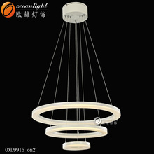 2015 High quality Hot sale unique dersign LED decoration ring light modern Pendant lamp for home or hotel OXD9915