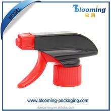 Hot sale red-black plastic trigger sprayer for household chemicals