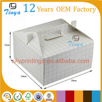Customized a white cute paper cake box folding