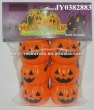 Plastic halloween pumpkin buckets halloween candy bucket halloween pumpkin bucket skull shape bucket machinary wack bucket