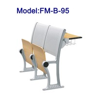 FM-B-95 Folding wood school desk and chair for stair classroom