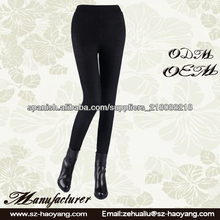 mujeres pantalones ajustados negros