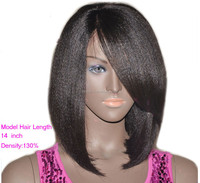 Light Yaki Short lace front wig Human Hair Wig Bob Lace Wigs For Black Women