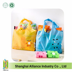 2015 Hottest!!! 190T or 210D Polyester Folding Shopping Bags with Print