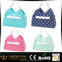 wholesale stripe canvas beach bag