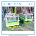 Mando a distancia tipo isla del congelador/comercial curvo de vidrio top congelador profundo