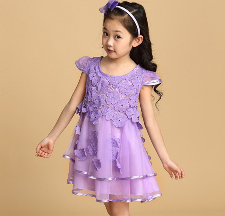 Girl Party Wear Western Dress Children Birthday Dress For Baby Girl ...